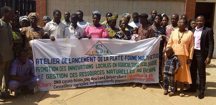 Lancement d'une plateforme multi acteur pour la promotion des innovations paysannes en agriculture écologique et gestion des ressources naturelles