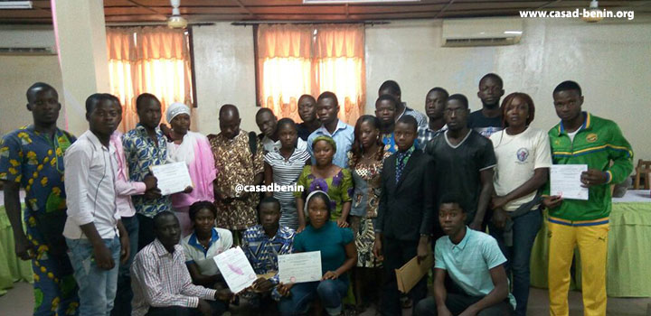 CASAD-Benin released the first young farmers' promotion